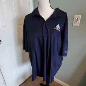 NWOT Tullymore emblem navy mens polo 2XL